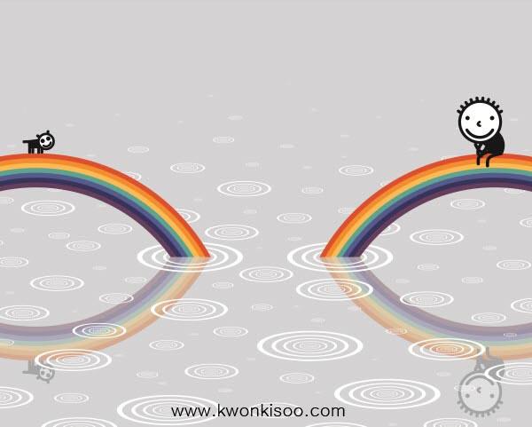 a double rainbow_162X130cm_acrylic on canvas on board_2011.jpg