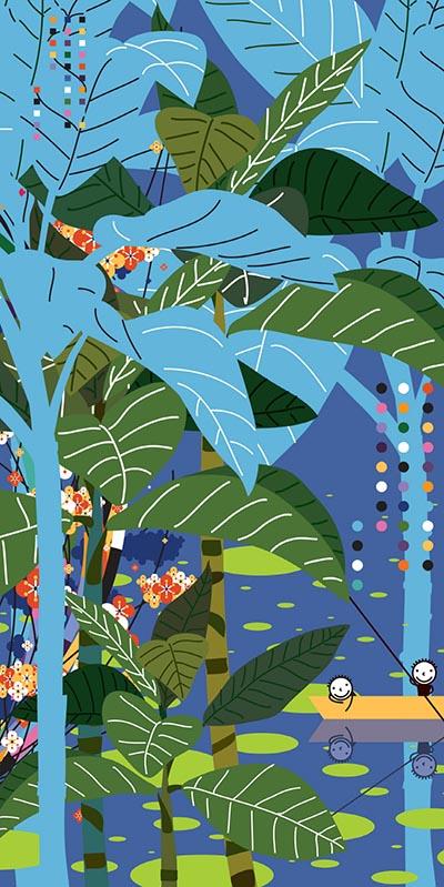My favorites_the Blue World_200X100cm_Acrylic on Canvas on board_2019.jpg